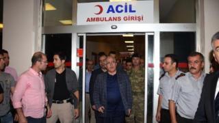Şanlıurfa Valisi Güngör Azim Tuna hastaneden çıkarken