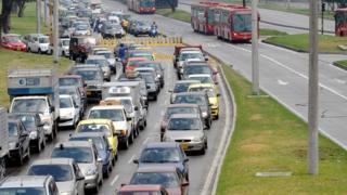 Tráfico en Bogotá