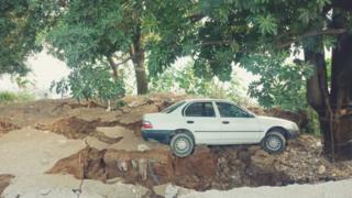 زلزلے سے زمین پھٹ گئی