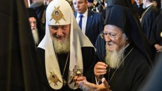 Rus Partik Kirill ve Patrik I. Bartholomeos