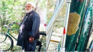 این پیر مرد حدود پنجاه سال است که با این دوچرخه در شهر کابل رکاب می زند