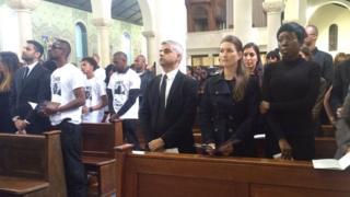 Sadiq Khan at Mr Elwin's funeral service