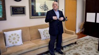 Fethullah Gülen ABD'deki evinde