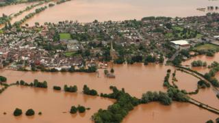 Flooded Upton upon Severn