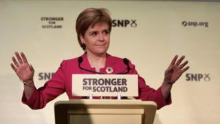 Nicola Sturgeon delivered a speech in Edinburgh on the anniversary of the independence referendum vote
