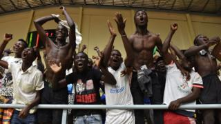 Des supporters du Burkina Faso