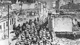 Русские войска в Бучаче (Брусиловский прорыв, июнь 1916 г._