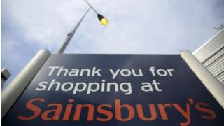 Sainsbury's supermarket sign