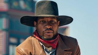 Jonathan Majors in The Harder They Fall