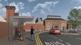 Artist's impression of Kenilworth station