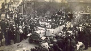 Belgian refugees arrive in Rhyl