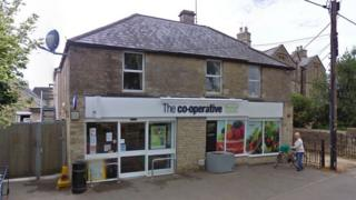 A stolen Isuzu Trooper crashed into the Co-op store targeting the cash machine inside