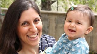 Nazanin Zaghari-Ratcliffe and her daughter Gabriella