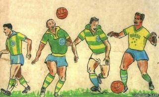 Schlee's original illustrations for the Brazil kit