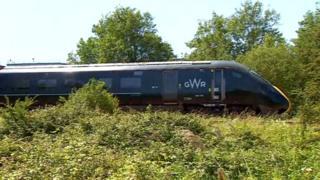 Train at the scene