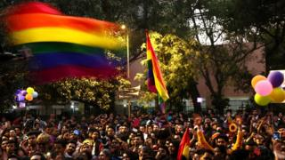 A year of being gay and legal in India - BBC News