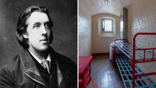 Oscar Wilde (1881) and his cell at Reading Prison