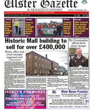 Front page of Ulster Gazette