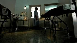 india A woman waiting for a surgical abortion.