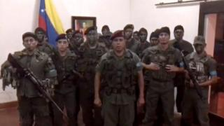 Venezuela'da bir grup asker 'isyan' etti.