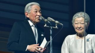 2019年1月2日,日本明仁天皇和皇后美智子在皇宫发表新年致辞。