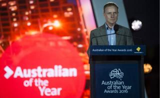David Morrison gives speech as part of the award ceremony for Australian of The Year on 25 January 2016, at Parliament House in Canberra.