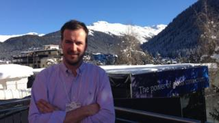 Taavet Hinrikus in Davos 2016