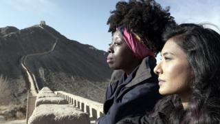 Natalie and Shameema at the Great Wall of China
