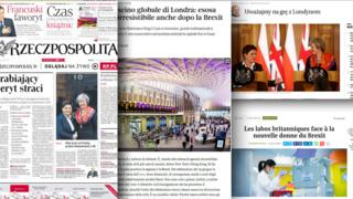 Combo picture of European media sources
