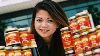 Jocelyn Chng and a range of Chng Kee's sauces
