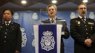西班牙警方所采取的这项行动得到了中国警方的合作