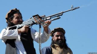 Qaar ka mid ah dagaalyahannada Taliban