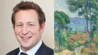 Ed Vaizey and Vue sur L'Estaque et le Chateau d'If by Paul Cezanne