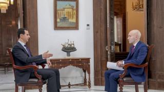 """بشار اسد، رئیسجمهوری سوریه در مصاحبه با شبکه تلویزیونی """"آر تی"""" روسیه"""
