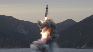 A reported underwater test-fire of strategic submarine ballistic missile conducted at an undisclosed location in North Korea (16 April 2017)