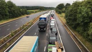 M5 northbound in Somerset