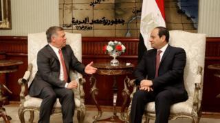 الرئيس السيسي والملك عبدالله الثاني
