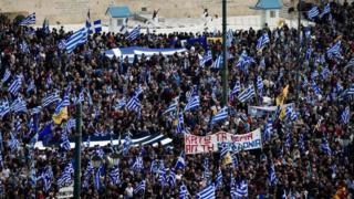 Atina'da gösteri