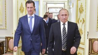 Suriye Devlet Başkanı Beşar Esad ve Rusya Devlet Başkanı Vladimir Putin