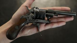 The gun used on poet Arthur Rimbaud