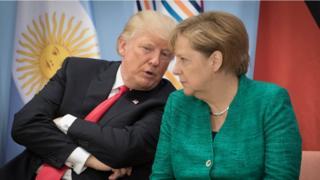 """Трамп и Меркель на саммите """"Большой двадцатки"""""""