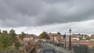 Old Dee Bridge in Handbridge, Chester
