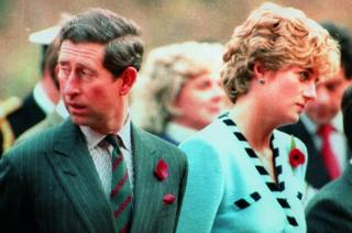 Prince and Princess of Wales at the memorial to the Gloucester Regiment