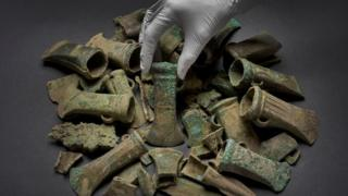 Havering Hoard: Weapons found on building site to go on show