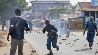 police in bujumbura on 10 june