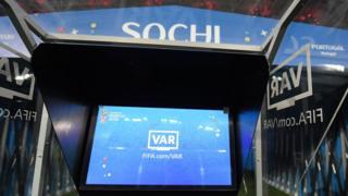 VAR screen in Sochi