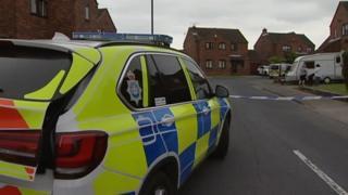 Crime scene in Manor Farm Close, Goole
