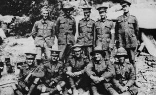 An archive photo of Anzac soldiers from New Zealand on the Gallipoli peninsula in 1915