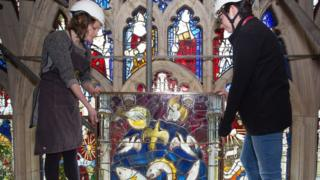 The final piece of the Great East Window
