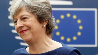 UK Prime Minister Theresa May arrives at an EU summit in Brussels